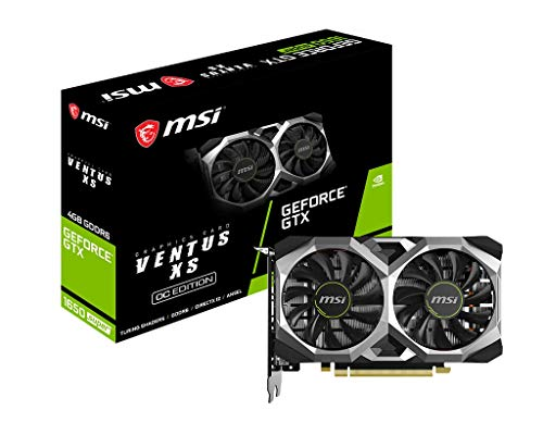 MSI GeForce GTX 1650 Super Ventus XS OC Gaming GeForce GTX 1650 Super 128-Bit HDMI/DP/DVI 4GB GDRR6 HDCP Support DirectX 12 Dual Fan VR Ready OC Graphics Card (GTX 1650 Super Ventus XS OC)