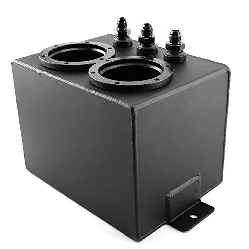 La gasolina del tanque de sobretensión 4L Racing combustible de los vehículos tanque puede volver a embalar Aluminio Automóvil Herramientas universal del aceite del depósito de recuperación