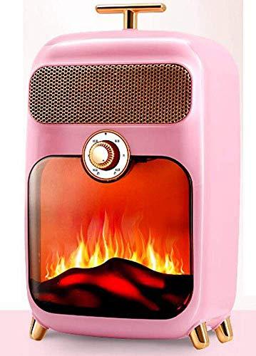 Calentador Estufa eléctrica del fuego eléctrico retro eléctrica 900W calentador de madera Stove W llamas diseño de la estufa llama efecto de fuego con patas de madera Chimenea de luz LED de temperatur