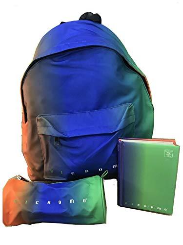 School Pack Pigma Bicromo Zaino + DIARIO + TOMBOLINO (Turchese)