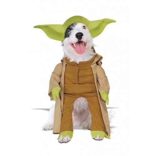 Fancy Me Animal Haustier Hund Katze Star Wars Yoda Halloween Kostüm Kleid Outfit S-XL - Extra Large