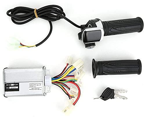 XINKONG Kit de conversión de Scooter del Controlador de Motor de Bicicleta, Mango de Acelerador de Pulgar multifunción, Adecuado para 3 6V1000W Bicicleta eléctrica