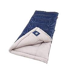 Coleman Sleeping Bag   Cold-Weather 20°F Brazos Sleeping Bag, Navy