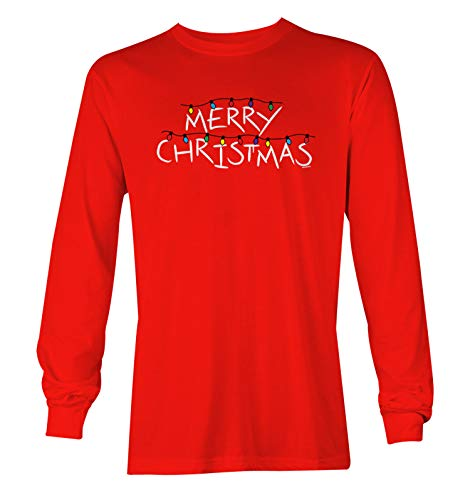 Merry Christmas Lights - Holiday Season Gift Unisex Long Sleeve Shirt (Red, XX-Large)