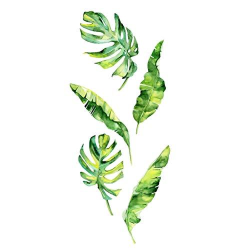 arret Middleton mooie DIY tropische blad muur kunst Decals groene plant slaapkamer muurstickers decoratie