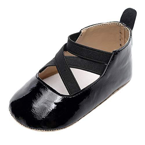 Zapatos De Bebé NiñAs NiñOs Zapatos De EláSticos con Velcro Zapatos Planos De Princesa Chicas Zapatos De Baile CumpleañOs Fiesta Antideslizante Zapatillas De Piso Calcetines Prewalker Recien Nacido