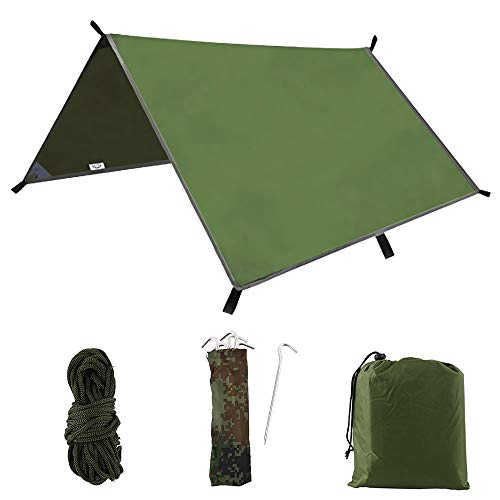 hotbesteu 3m x 3m Hammock Rain Fly Tent Tarp Waterproof Windproof Snowproof...