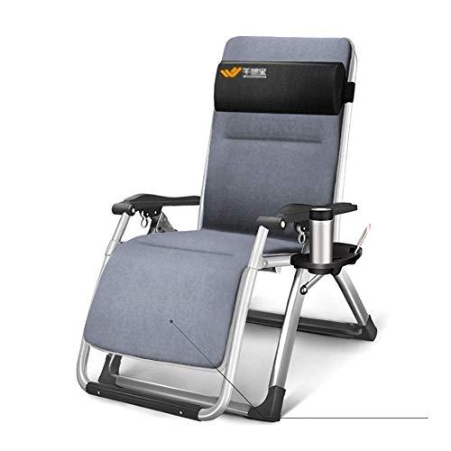 Chaise longue Office Life Chaises inclinables de patio Chaises Zero Gravity surdimensionnées, avec coussin en daim, chaises longues de camping sur la plage Coussin réglable de jardin inclinables ex