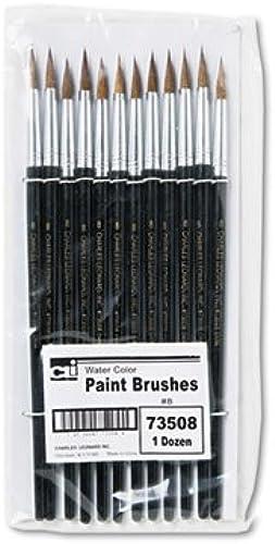 Artist Brush, Größe 8, Camel Hair, Round, 12 Pack, Sold as 12 Each by CHARLESLEONARD
