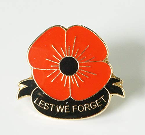 DingCollection 2019 Remembrance Day Poppy Enamel Pin Badge Brooch Lest We Forget