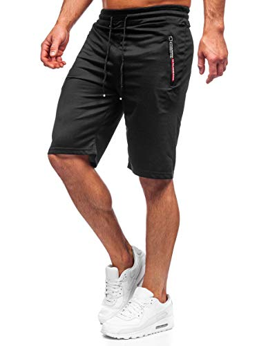BOLF Herren Kurze Sporthose Motiv Print Shorts Bermudas Trainingshose Fußballhose Fitnesshose Short Hose Army Motiv Camo Sweathose Stretch Freizeithose Street Style JX511 Schwarz M [7G7]