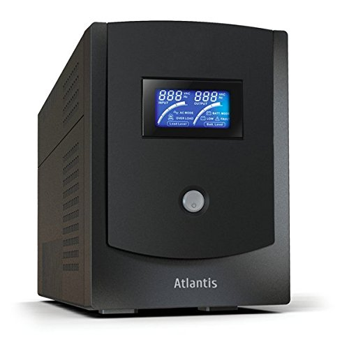 Atlantis HostPower 2202, UPS Line Interactive 2200VA/1100W, AVR, Onda Sinusoidale, 6 prese IEC, 2 Batterie 12V 9Ah, Software ViewPower scaricabile gratuitamente