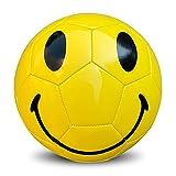 SHENGY No. 5 Fútbol Sonriente El Cuero Compuesto es Suave y fácil de Manejar, con un excelente diseño y una Apariencia Hermosa, un Regalo de Moda Que a Nadie le Gusta.