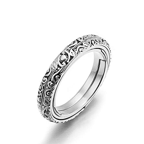 lefeindgdi Anillo de bola de esfera astronómica, anillo de dedo cósmico, anillo de joyería creativa, regalo para los amantes de las parejas