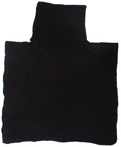 DRY77 Turtle Neck Dickey Inner Sweater, Black