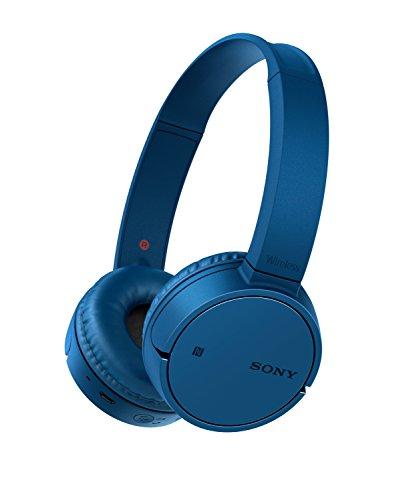 Sony WH-CH500 kabelloser Bluetooth Kopfhörer (Bis zu 20 Stunden Akkulaufzeit, Freisprechfunktion, NFC, schwenkbares Design) blau