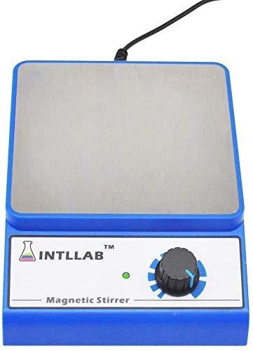 Mr.T Artículos de Vidrio Laboratorio magnética Mezclador Agitador Magnético Sin Escala Velocidad, con Varilla agitadora 3000 RPM Capacidad máxima de Mezcla Utensilios industriales