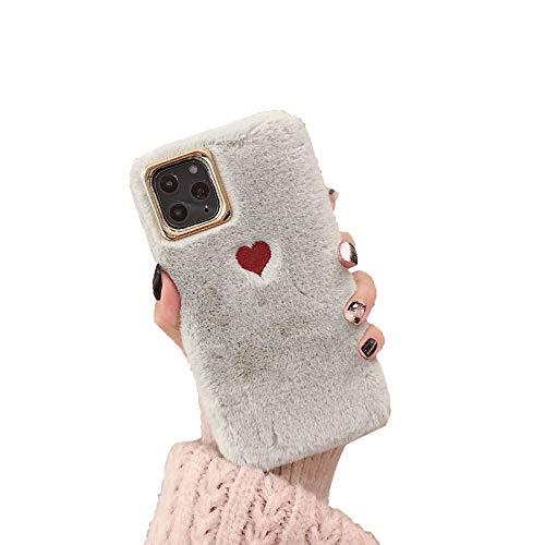 Funda para Iphone11/11pro/11pro MAX Encantadora Cálida Caja del Teléfono de Amor Anti Choque Ultra Delgado Caso Alto Grado Simple Carcasa Case,Gris,11pro