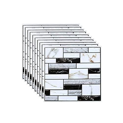 TOPSALE 10 Piezas Pared Azulejo Pegatina Hogar Ba?O Cocina Ladrillo 3D DecoracióN de la Pared Pegatinas Azulejo Arte Placa Protectora DecoracióN de la Pared 30X30 Cm