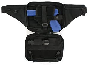 Black Tactical Pistol Concealment Fanny Pack - CCW Concealed Carry Gun Pouch with Holster