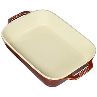 Staub 40511-885 Baking-Dishes Rectangular, 10.5  x 7.5 , Rustic Red