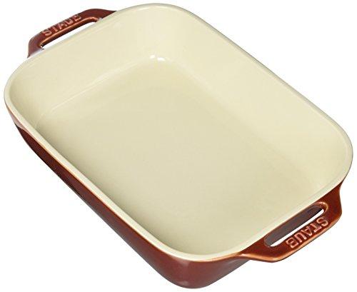 STAUB Ceramics Rectangular Baking Dish, 10.5x7.5-inch, Rustic Red