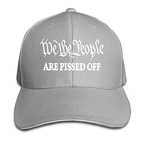 XCNGG We The People Are Pissed Off Trucker Cap Gorra Tipo sándwich Ajustable con Pico Unisex
