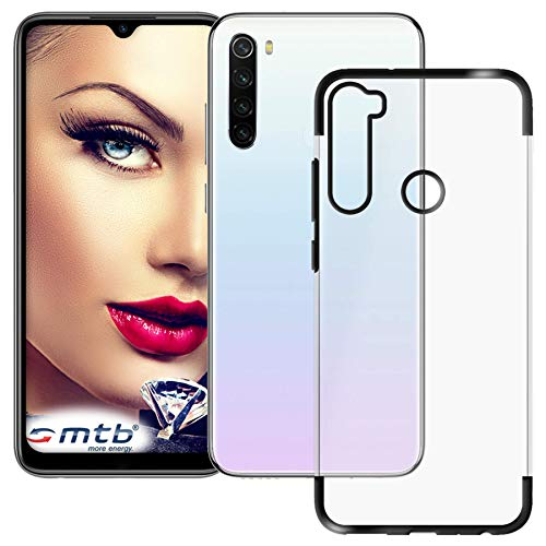 mtb more energy® Funda TPU Elegance para Xiaomi Redmi Note 8T (6.3'') - Negro - Frame Marco Case Cover Estuche