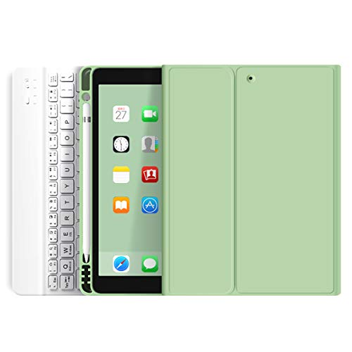 ZOYU Keyboard Case for iPad Pro 11 inch 2020 (2nd Generation),Lightweight Smart Cover with Pencil Holder,Magnetically Detachable Wireless Keyboard,Auto Sleep/Wake for iPad Pro 11-Green