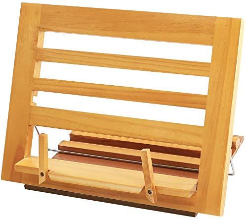 Soporte de madera para libros de cocina, escritorio ajustable, porta documentos, plegable para dispositivos electrónicos portátiles para teléfonos celulares, tabletas, Kindle, soporte para laptop