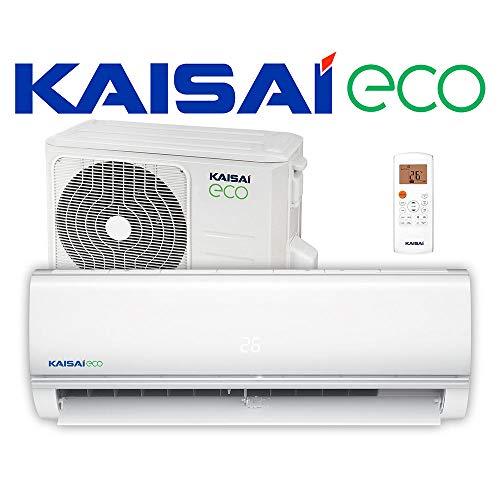 Kaisai ECO Split Klimaanlage 3,5 kW 12000 BTU, für bis zu 55 qm, WiFi Ready Invert Klimagerät Split, A++ Kühlen, A+ Heizen, inkl. MontageSet, Kältemittel R32, Fernbedienung