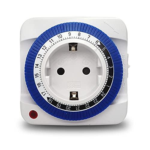 SSMDYLYM 24 Horas de Enchufe de la UE Temporizador Inteligente Temporizador Socket Interruptor Hogar Electrodomésticos Tiempo mecánico Auto-On/Off Intelligent Timer Interruptor