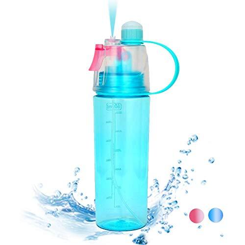 sjqc9561 Protable Sport Spray Wasserflasche Mit Stroh Und Griff Leakproof Wasserflasche Mist Kunststoff Kühlung Getränkeflasche Für Einen.Kreislauf.durchmachentreibende Klettern