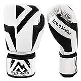 Brace Master Boxhandschuhe Serie DG 2.0 Design für präzises und schnelles Stanzen von Sparringhandschuhen für Männer und Frauen, Anzug für MMA Boxing Sparring & Training (Box Black 6OZ)