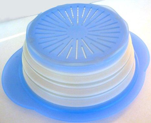 Tupperware - ZUBEREITEN 1a Tupper Sieb MiniMax - Faltbarer Durchschlag 2l - hell blau