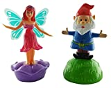Outdoors By Design Solar Powered Dancing Toys, Male Gnome and Female Fairy (Set of 2) 