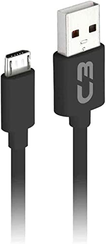 Cabo USB-Micro USB C3Plus CB-M20BK 2M Preto - Compatível com Android USB-Micro Corrente 2A