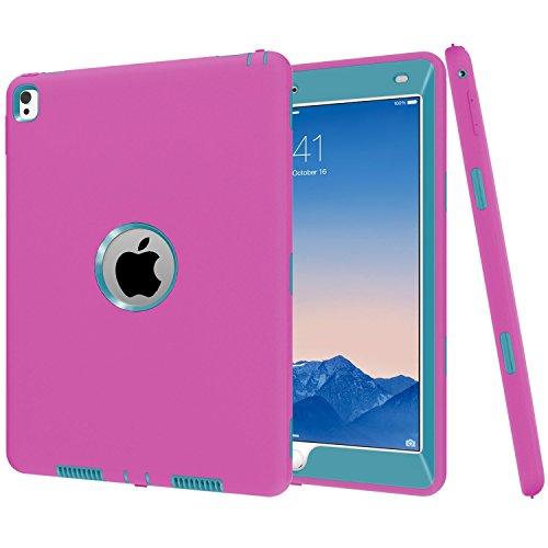 iPad Pro 9.7caso di Betty [full-body Heavy Duty antiurto] 360° di plastica dura copertura, High Impact Resistant Armor Defender custodia per iPad Pro 24,6cm 2016 Rosered Blueink