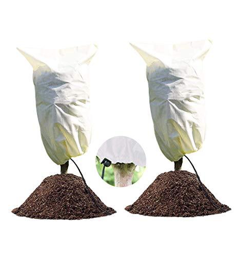 LINSOCLE 2PCS Funda para Plantas, Plantas Cubierta Protección Invierno, Cubre Plantas Invierno, Se Utiliza para la Protección de Plantas contra el Frío/Congelación/Viento y Nieve