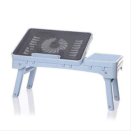 Nobranded Mesa De Enfriamiento Plegable Ajustable Mesa De Enfriamiento Sofá Cama Office Stand Desk para 14/15.6 Pulgadas Portátil De Ordenador con Silenciador Gran Ventilador