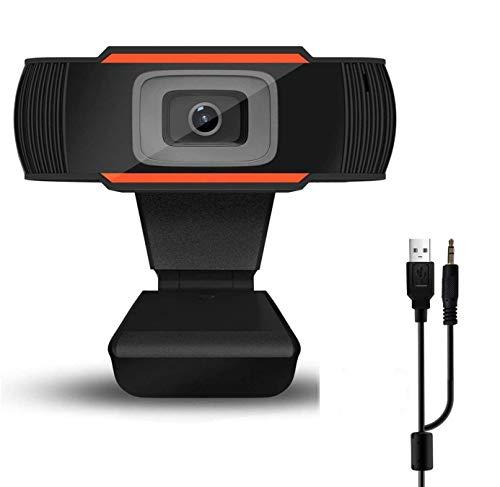 Supoggy Webcam con Microfono Stereo USB Videocamera Web 720P HD PC per Chat Video e Registrazione Compatibile con Windows Mac e Android