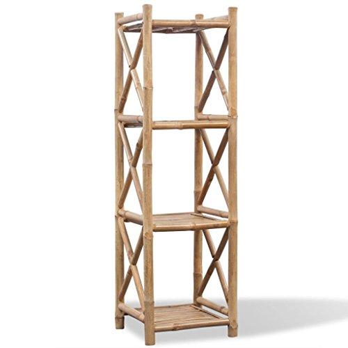 vidaXL 4-Etagen Bambus Badregal Handtuchregal Duschregal Standregal Küchenregal
