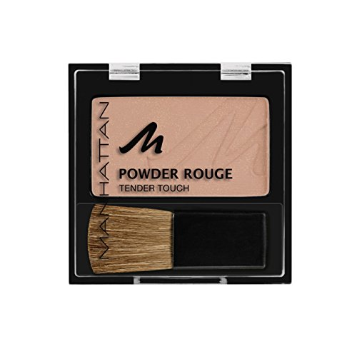 Manhattan Powder Rouge – Beiges Blush mit Puder Textur und beiliegendem Pinsel – Farbe Nude Mood...