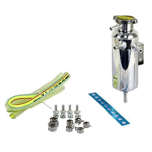 Lorsoul Universal Car Motor Radiador de Captura de Agua de enfriamiento del Tanque de refrigerante Aluo Puede Botella de Reserva