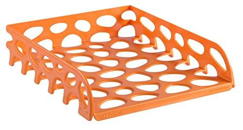 SAX Voronoi - Vaschetta portacorrispondenza, indistruttibile, design moderno, colore: Arancione