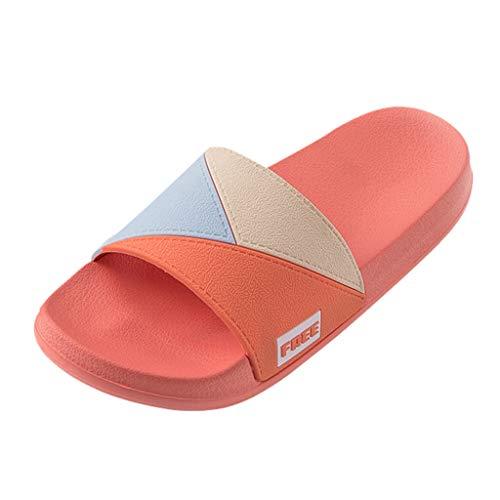 Sylar Zapatillas Antideslizantes para Mujeres,Mezcla Color Zapatillas De Moda Baño Diapositivas Fuera Mujeres Pareja Plana Suave Suela Diapositivas