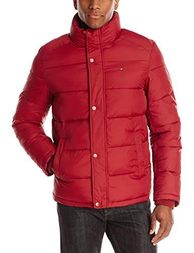 Tommy Hilfiger Men's Classic Puffer Jacket, Red, Medium