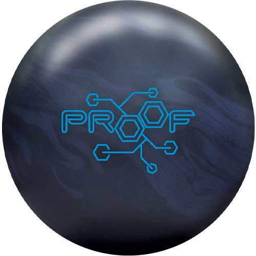 Track Proof Bowling Ball- Black/Grey Solid 15lbs