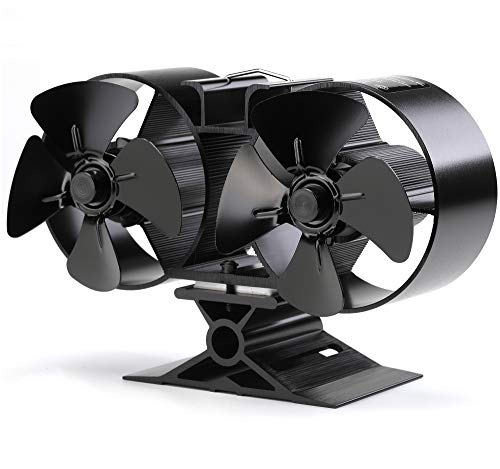 CRSURE Wood Stove Fan, 8 Blade Fireplace Fan