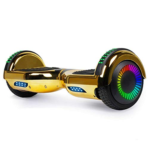 SISIGAD Hoverboard Self Balancing Scooter 6.5' Two-Wheel Self Balancing Hoverboard with Bluetooth Speaker for Adult Kids